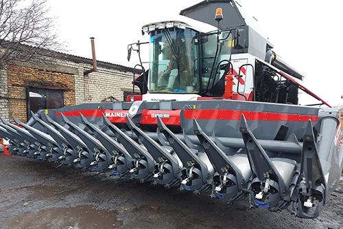 Первая в России безрядковая жатка для уборки кукурузы Mainero MDD-100